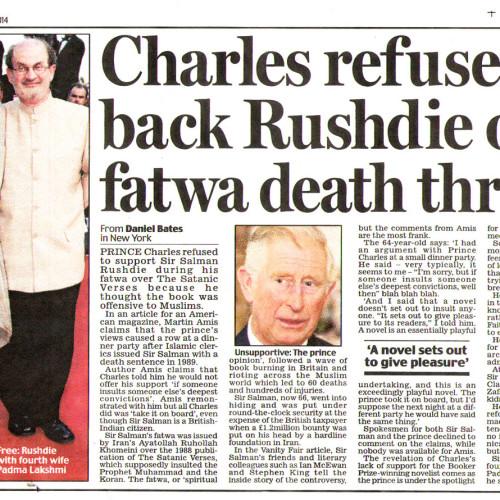 El caso Rushdie, revelador de la hipocresía y el fascismo en occidente